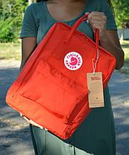 Fjallraven Kanken Classic Городской Рюкзак красного цвета на 16 литров