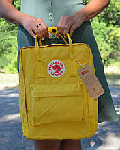 Fjallraven Kanken Classic Городской Рюкзак желтого цвета на 16 литров