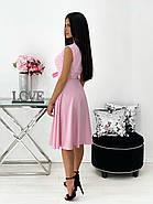 Повседневное яркое летнее платье с юбкой клеш, с небольшим разрезом и красивым декольте, фото 3