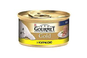 Влажный корм Purina Gourmet Gold для кошек, мусс, с курицей 85 г * 24 шт
