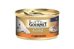 Влажный корм Purina Gourmet Gold для кошек, мусс, с индейкой 85 г * 24 шт