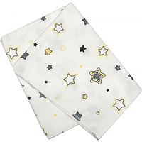 Дитяча пелюшка байкова HANDmade із зірочками, 1 шт (100 х 80 см)