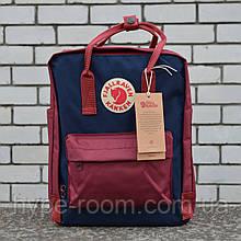 Fjallraven Kanken Classic Городской бордовый с синим Рюкзак на 16 литров