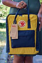 Fjallraven Kanken Classic Городской желтый с синим Рюкзак на 16 литров