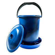 Бункерна годівниця 11,7 л / 7,9 кг з кришкою для перепелів, бройлерів, курей несучок, індиків, качок і гусей