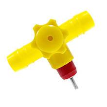Ниппельная поїлка + штуцер на клітину під шланг 14 мм (засувка)