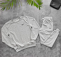 Мужской спортивный костюм Nike (Найк) светло серый , свитшот штаны (толстовка худи лонгслив)