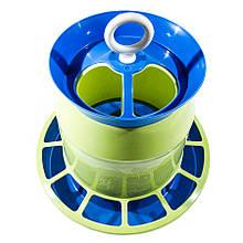 Бункерна годівниця 4,4 л / 3 кг непрозора для курей несучок, бройлерів, качок, гусей, індиків, перепелів