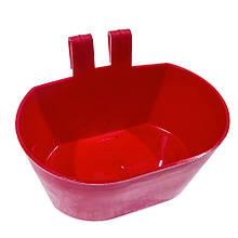 Поїлка чашкова овальна навісна для клітини