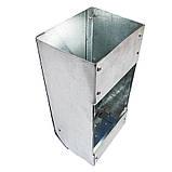 Бункерная кормушка для кроликов 1 отд. металлическая  24х9х9, фото 3
