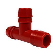 Трійник під шланг 10 мм Т-подібний пластик.