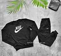 Мужской спортивный костюм Nike (Найк) черный , свитшот штаны (толстовка худи лонгслив)