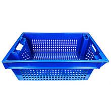 Ящик пластиковий поворотний (синій)