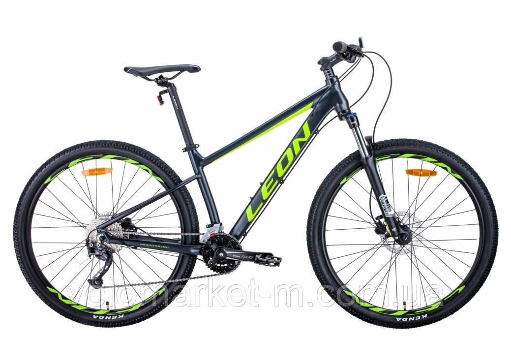 """Велосипед 27.5"""" Leon XC-70 20"""" 2021 антрацитно жовтий з чорним"""