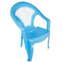 """Крісло дитяче пластикове синє """"Зайчик"""""""
