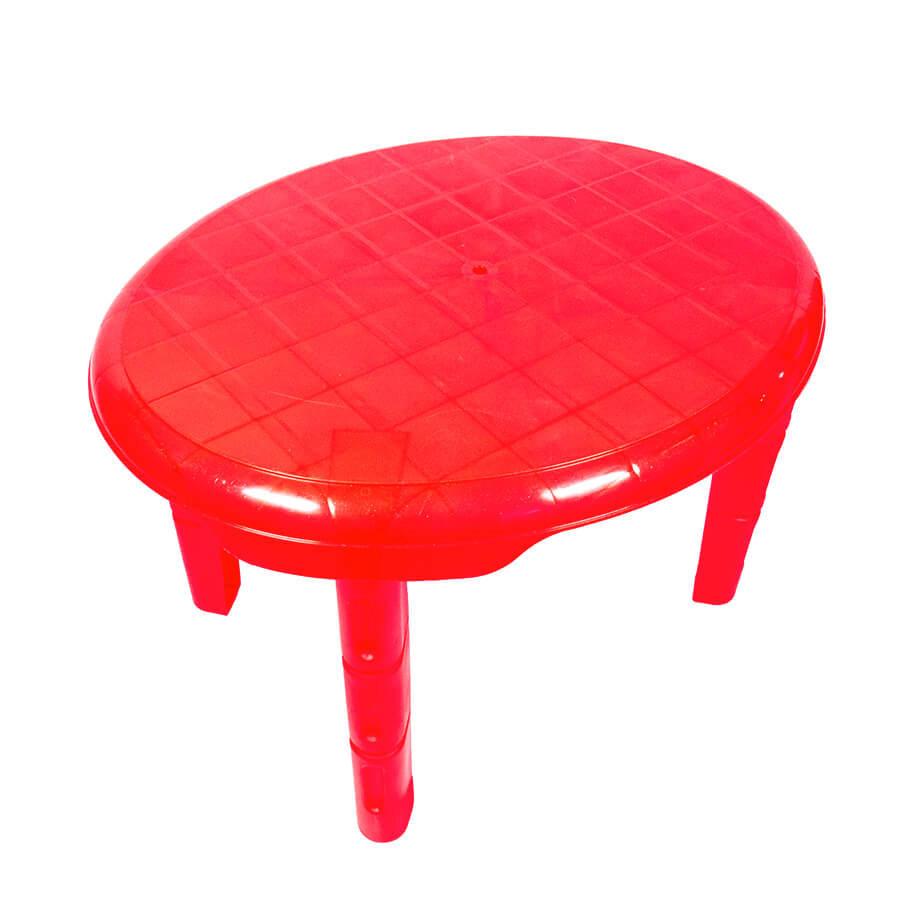 Дитячий пластиковий овальний стіл (червоний)