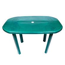 Пластиковий овальний стіл (зелений)