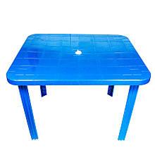 Пластиковий прямокутний стіл (синій)