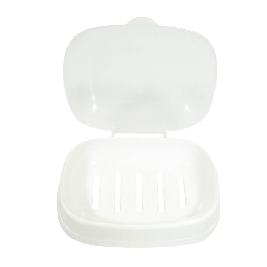 Мыльница пластиковая с крышкой