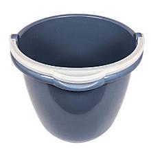 Відро кругле з носиком на 10 л (без кришки, сіре)
