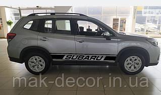 "Декалі на кузов авто - Тюнинг смуги ""Subaru"" 15х180 см х 2 шт"