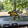 Ароматизатор пахучка в машину із дерева Зла бджола, фото 2