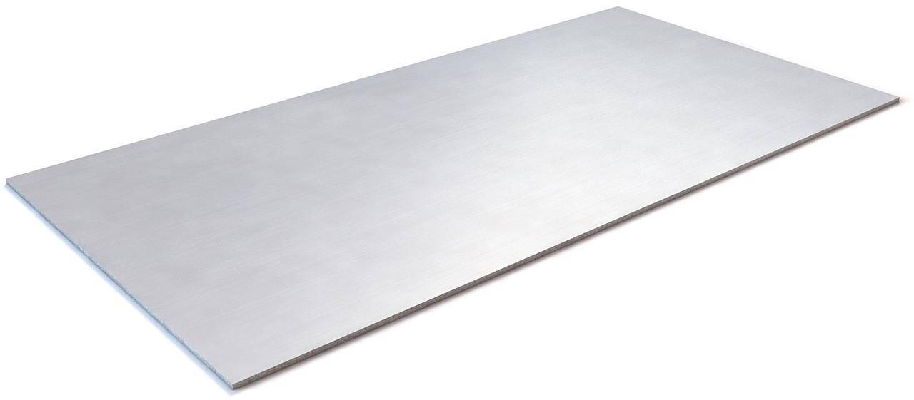 Лист нержавіючий холоднокатаний матовий полірований PVC 1250х2500х2, сталь AISI 304/304L
