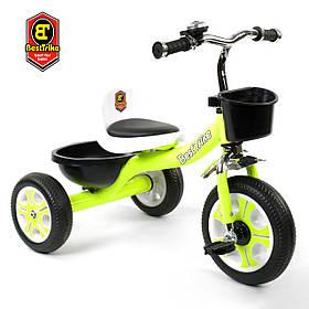 Велосипед трехколесный детский (колеса EVA, звоночек, 2 корзины) Best Trike LM-3109 Зеленый
