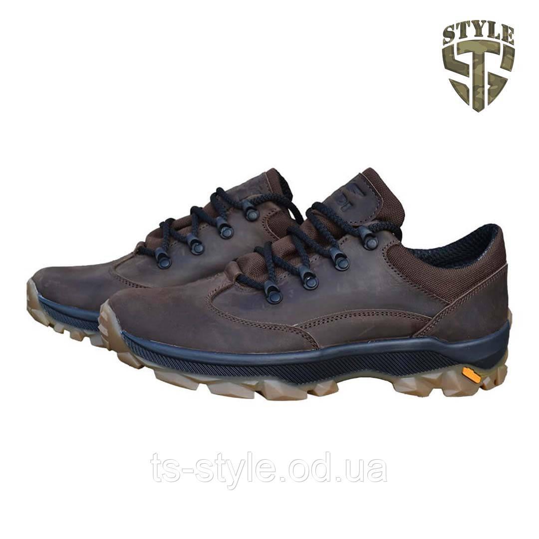 Кросівки тактичні 20-01V шкіряні коричневого кольору