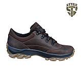 Кросівки тактичні 20-01V шкіряні коричневого кольору, фото 2