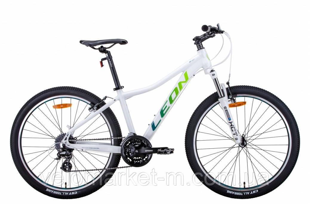 """Велосипед 26"""" Leon HT-LADY 15"""" 2021 біло синій з салатним"""