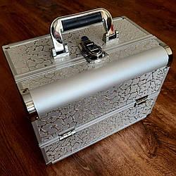 Бьюти кейс для косметики визажиста / чемодан для мастера маникюра и бровиста