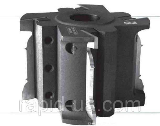 Фреза предназначена для обработки погонажных изделий на четырехсторонних фрезерных станках. Комплектация ― корпус 9 видов ножей