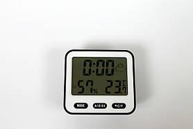 Портативная метеостанция BK-854 Часы с термометром и гигрометром