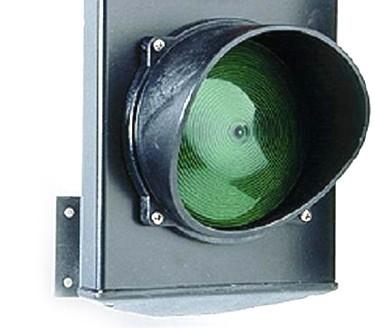 Светофорная лампа зелёная