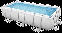Каркасный бассейн Bestway 56441 404х201х100 см большой прямоугольный с картриджным фильтром и лестницей, фото 8