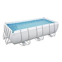 Каркасный бассейн Bestway 56441 404х201х100 см большой прямоугольный с картриджным фильтром и лестницей, фото 6
