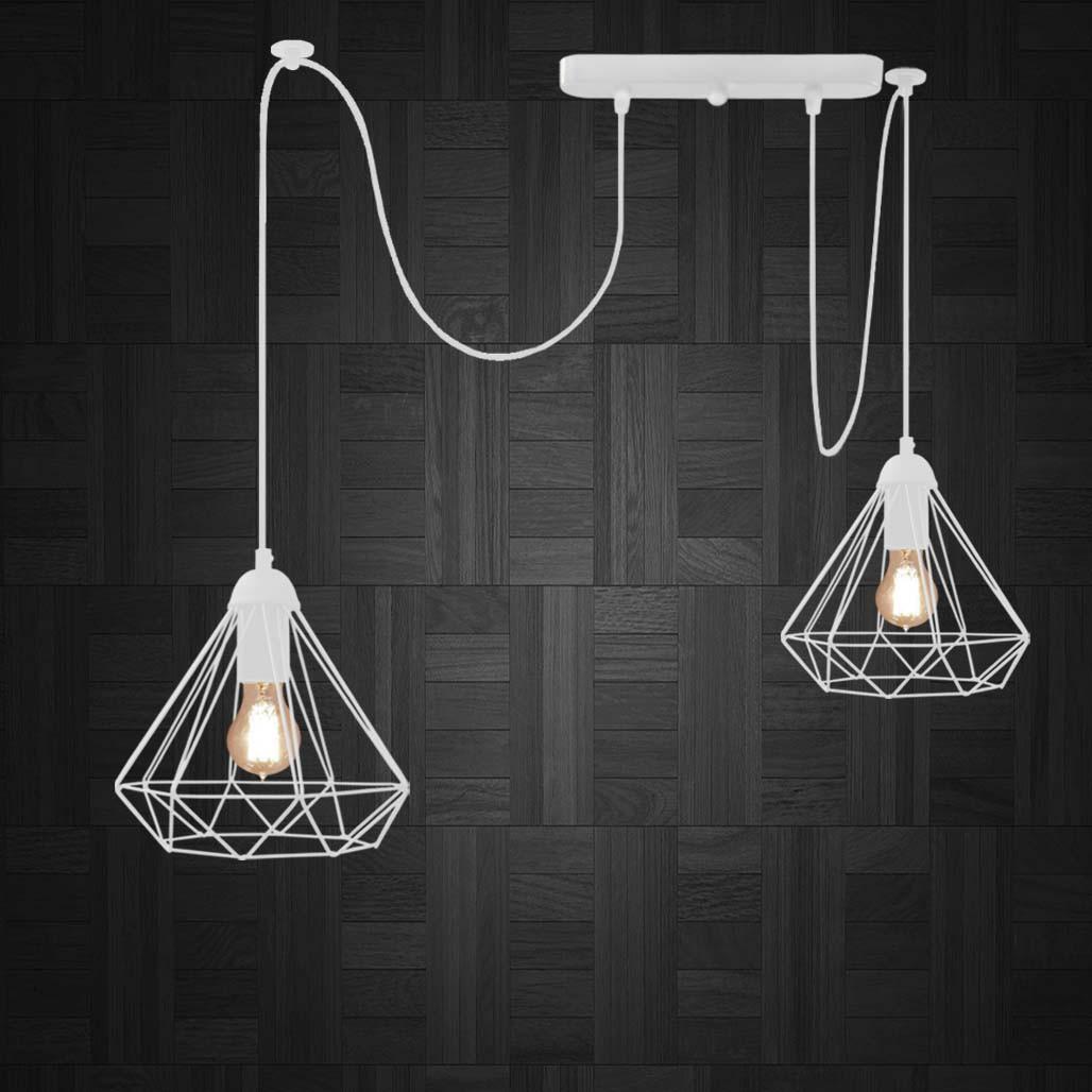 Підвісний світильник на 2-лампи DIAMOND/SP-2 E27 білий