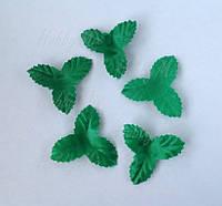 Набор листиков из ткани 5 шт. (40 мм), фото 1