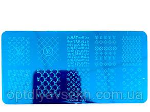 Диск для стемпинга металлический, маленький (12 см * 6 см) / бренды L015
