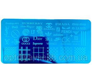 Диск для стемпинга металлический, маленький (12 см * 6 см) / бренды A01