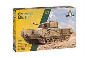 Churchill Mk. III. Збірна пластикова модель. 1/72 ITALERI 7083