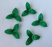 Набор листиков из ткани 5 шт. (30 мм), фото 1