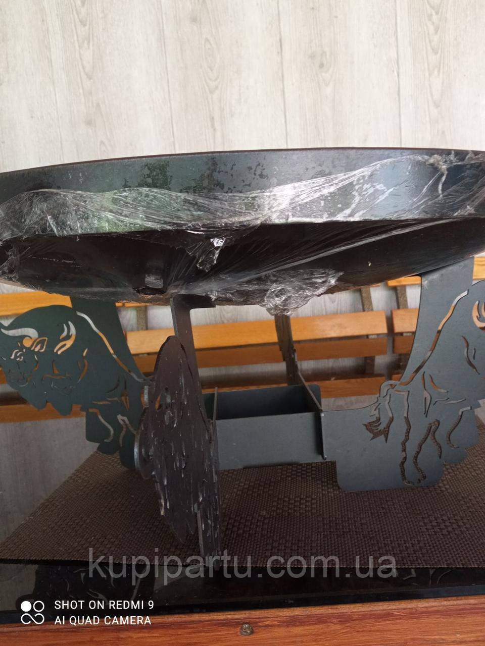 Подска металева для сковороди з диска, борони розбірна 40-50-60 см ПМ-1