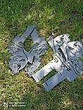 Подска металева для сковороди з диска, борони розбірна 40-50-60 см ПМ-1, фото 6