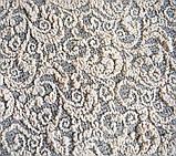 Жаккардовый Чехол на диван и два кресла из плотной ткани Дивандек универсальный c юбкой Цвет Ванильный, фото 4