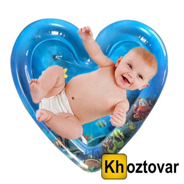 """Дитячий розвиваючий надувний водний килимок """"Серце"""""""
