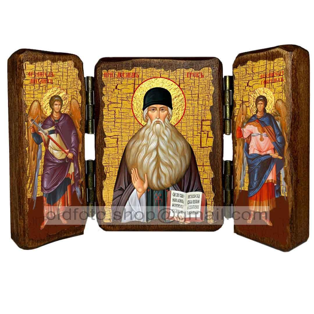 Ікона Преподобний Максим Грек ,ікона на дереві 130х170 мм