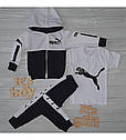 Спортивный костюм в стиле Пума для мальчика на рост 86-140 см, фото 2