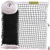 Сітка для великого тенісу з металевим тросом 12,8 x 1,08 м Любительська S4S Чорний-білий (SO-2327)